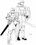 'Mal' the Mercenary and Eleanor in full gear